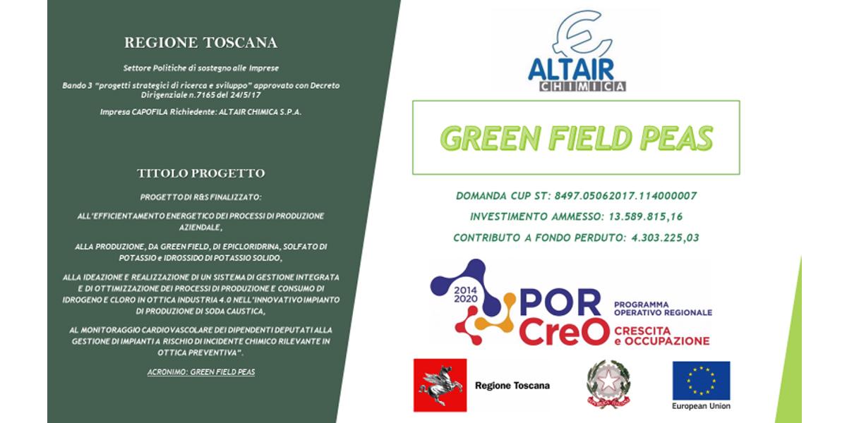 Concluso Il Progetto GREEN FIELD P.E.A.S.